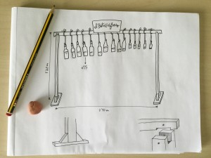 Estructura botellófono dibujo